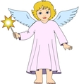 Christmas angel with star vector image