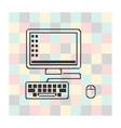computer display isolated on square vector image