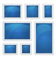 Digital tablet pc set vector image