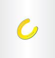 golden luck horseshoe icon vector image