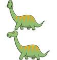 green dinosaur cartoon vector image