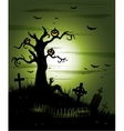 Greeny Halloween background vector image