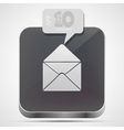 Mail app icon vector image