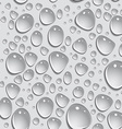 Seamless background Drops of water vector image
