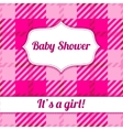 Its a girl card with plaid vector image vector image