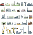 different kinds of factory vector image