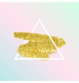 Trendy poster with gold glitter texture vector image