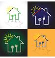 House solar circuit vector image