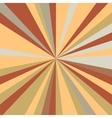 Retro rays background vector image