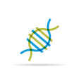 DNA molecule icon vector image vector image