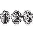 Tribal style number vector image vector image