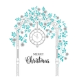 Christmas arch with roses vector image