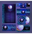 corporate identity design Disco background vector image