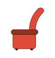 lounge chair sideview icon image vector image