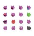 set of devil emoticon vector image