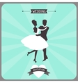Wedding invitation retro card vector image