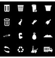white garbage icon set vector image