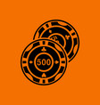 casino chips icon vector image