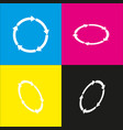 circular arrows sign  white icon with vector image