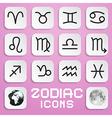 Paper Zodiac Horoscope Square Symbols on Pink vector image