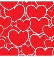 abstract red background with hearts vector image vector image