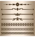 Decorative lines vector image vector image