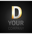 abstract logo letter D vector image