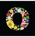 floral o vector image vector image