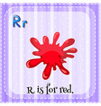 Flashcard of letter R vector image vector image
