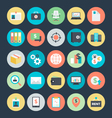 Business Colored Icons 4 vector image