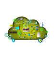 Web Cloud services vector image