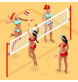 Volleyball Beach Field 2016 Summer Games 3D vector image vector image