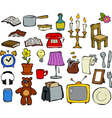 doodle household items vector image