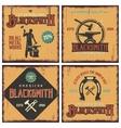 Blacksmith Retro Icon Set vector image