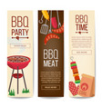 bbq vertical promotion banners barbecue vector image
