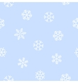 Blue seamless background of snowflakes vector image