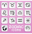 Paper Zodiac Horoscope Square Symbols on Pink vector image