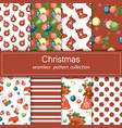 set of festive backgrounds collection of seamless vector image