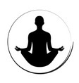 yoga woman icon symbol vector image