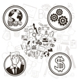 Business and icon set Business graphic vector image