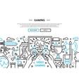 Video Gaming - line design website banner vector image
