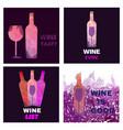 Wine tasting card set vector image