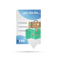map and case - label template vector image