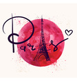 Paris and red circle vector image