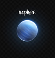Realistic glowing Neptune planet Isolated Glow vector image
