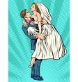 Wedding bride hands the groom vector image