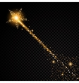 Gold glittering star dust trail sparkling vector image vector image