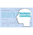 business consulting head profile icon vector image