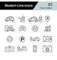 electric car icon set 1 hybrid vehicle symbol vector image