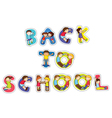 english word back to school vector image